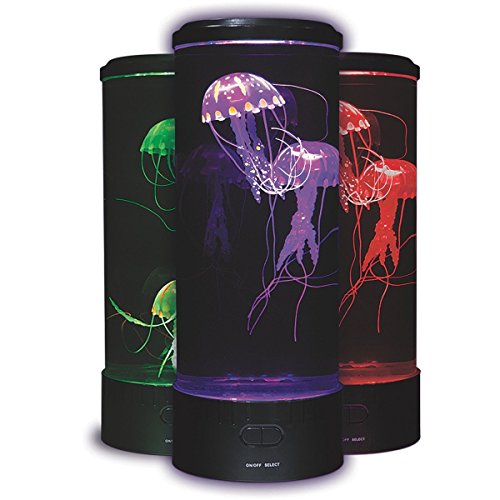 Fascinations LED Fantasy Jellyfish Lamp Round With 5 Color